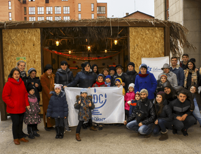 """Семьи JFS и участники Молодёжного Клуба """"Shahar"""" в Сукке"""