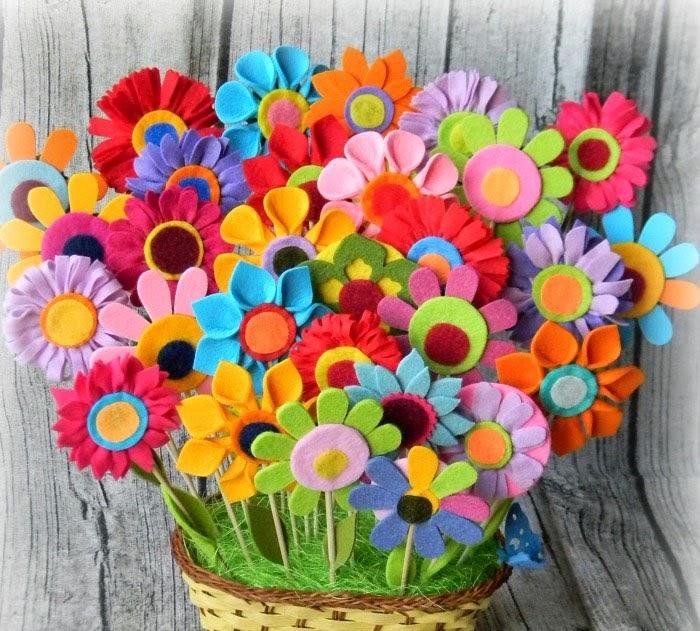 Мастер-класс по созданию цветов из фетра